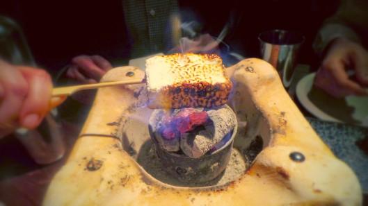Roasting the marshmallows