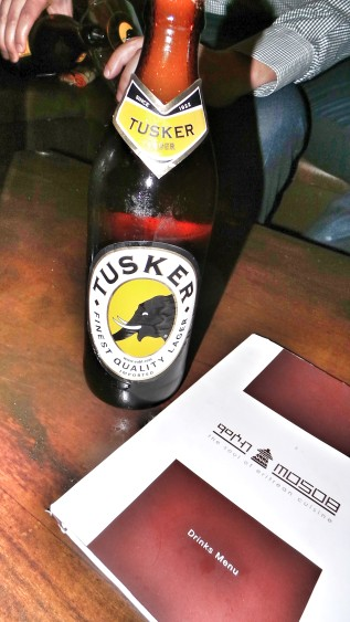 Tusker beer at Mosob